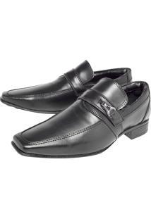 Sapato Social Recortes Preto