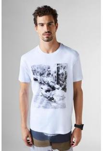 Camiseta Reserva Estampada Monk Masculina - Masculino-Branco