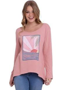 Camiseta Rx M/L Montains Feminina - Feminino-Rosa