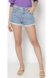Short Jeans Com Pespontos- Azul Claro- Sommersommer