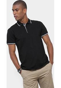 Camisa Polo Watkins & Krown Masculina - Masculino-Preto