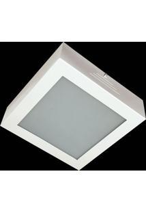 Plafon Evolution Aluminio E Vidro Peq 063 Branco Bivolt
