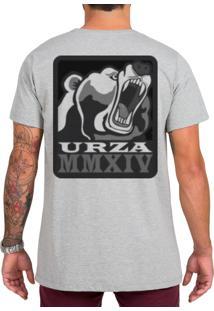 Camiseta Urza Urso Mescla Cinza