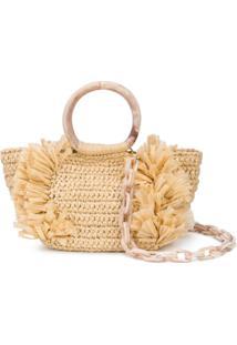 Carolina Santo Domingo Corallina Shoulder Bag - Marrom