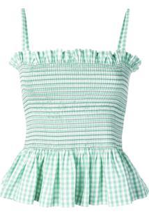Molly Goddard Blusa Xadrez - Verde
