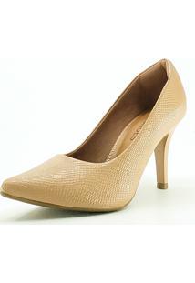 Scarpin Jk Shoes Croco Rosê - Kanui