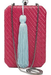 Clutch Tresse Tassel - Vermelho