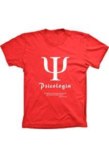 Camiseta Baby Look Lu Geek Psicologia Vermelho