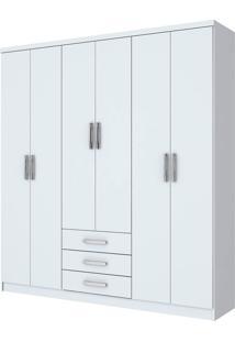 Guarda-Roupa Henn Caju D136-10 6 Portas Branco Se