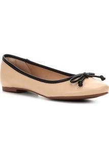Sapatilha Shoestock Laço Basic Feminina - Feminino-Nude+Preto