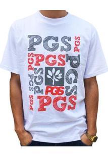 Camiseta Pgs Masculina - Masculino-Branco