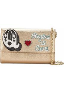 Dolce & Gabbana Bolsa Tiracolo 'Queen Of Hearts' De Couro - Metálico