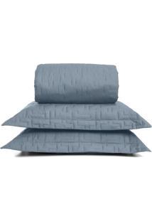 Conjunto De Cobre-Leito Reffinata Queen Size- Azul- Buettner