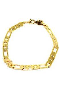 Pulseira Infine Grumet 3X1 Banhada A Ouro Dourada