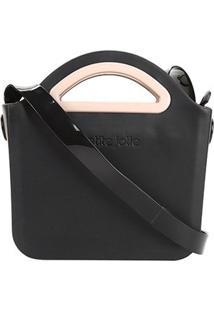 Bolsa Petite Jolie Mini Bag Flix Fosca Feminina - Feminino-Preto