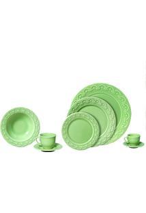 Aparelho De Jantar 20 Peças Princess - Scalla - Verde