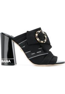 Dolce & Gabbana Sandália Slip-On - Preto