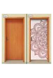 Adesivo Decorativo De Porta - Mandala - 1989Cnpt
