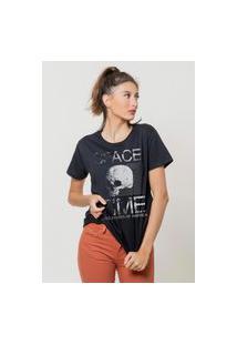 Camiseta Jay Jay Básica Space Time Preta