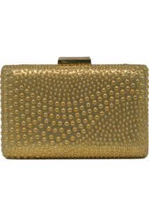 Clutch Lisbella Textura Dourada