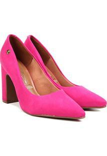 Scarpin Vizzano Salto Quadrado Ii - Feminino-Pink