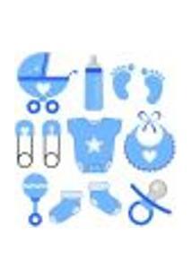 Adesivo De Parede Baby Azul