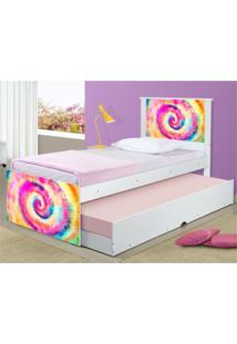 Bicama Solteiro Adesivada Tie Dye Casah - Multicolorido - Dafiti