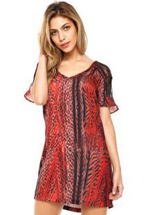 Vestido Forum Reto Renda Vermelho