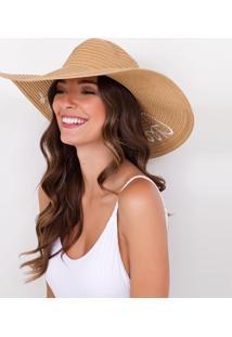 Chapéu De Praia Com Bordado