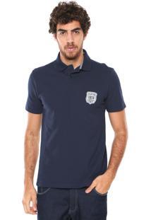 Camisa Polo Malwee Reta Azul-Marinho