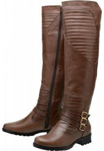 Bota Atron Shoes Montaria - Feminino-Marrom
