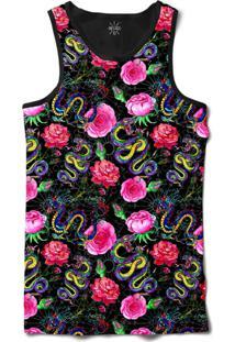 ... Camiseta Insane 10 Regata Serpentes E Dragões Sublimada Preto Rosa af4aac6e7eb