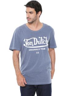 Camiseta Von Dutch Rose And Knife Cinza
