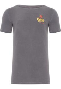 Camiseta Masculina Cannabis - Cinza