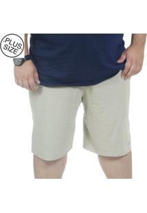 Bermuda Plus Size Moletinho Bigshirts - Areia