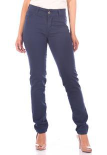Calça Sisal Jeans Cigarrete Skinny Azul Marinho