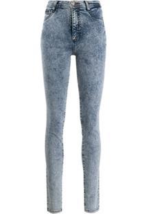 Philipp Plein Calça Jegging Jeans Cintura Alta - Azul