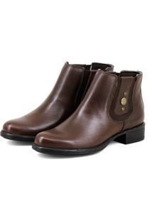 Bota Luxo Chelsea Boots Escrete Original 2464 Marrom