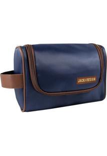Necessaire Jacki Design Lisa Azul-Marinho