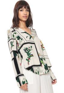 Camisa Osklen Floral Off-White