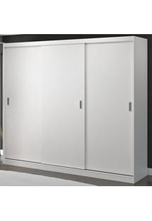 Guarda-Roupa Casal 3 Portas De Correr 100% Mdf 1902 Branco - Foscarini