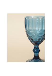Taça De Água Vidro Azul - Azul / Un