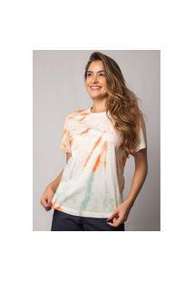 Camiseta Pau A Pique Tie Dye Laranja