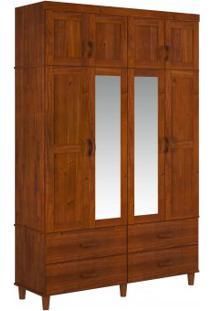 Guarda Roupa Tripartido Finestra Ecco 08 Portas E 04 Gavetas C/02 Espelhos Imbuia
