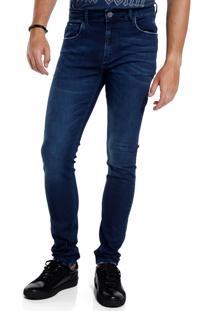 Calça John John Skinny Budapeste Jeans Azul Masculina (Jeans Escuro, 42)