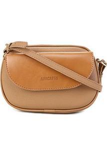 Bolsa Anacapri Mini Bag Pqn Eco Vene Feminina - Feminino-Marrom Claro