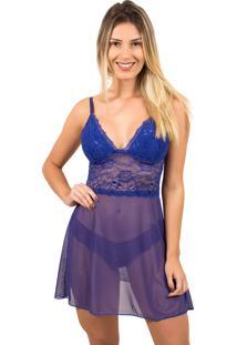 Camisola Bella Fiore Modas Sexy Sem Bojo Azul