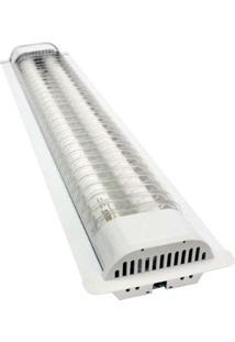 Luminária De Embutir Com 2 Lâmpadas 36W Branca Taschibra