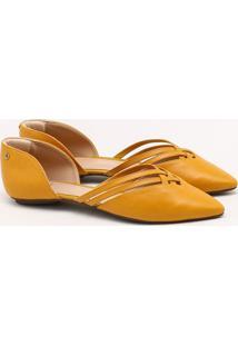 Sapatilha Couro Amarelo Ipê