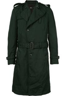 Kolor Trench Coat Com Cinto - Verde
